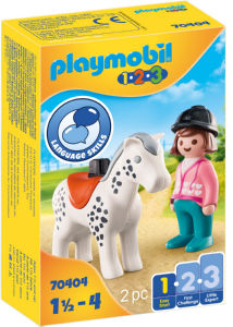 Kocke Playmobil, Jahač 1.2.3 s konjem, 70404