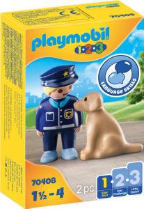 Kocke Playmobil, Policist 1.2.3 s psom, 70408