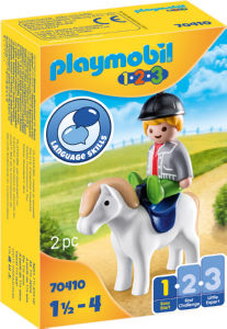 Kocke Playmobil, Fant 1.2.3 s ponijem, 70410