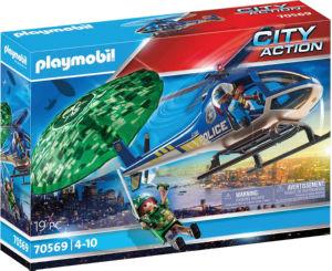 Kocke Playmobil, Policijski set iskanje s padalom, 70569