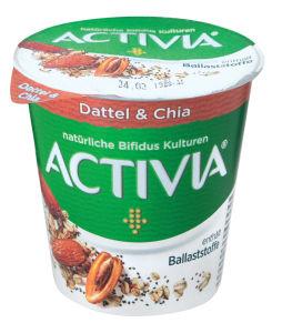 Jogurt Activia, datelj in chia semena, 150g