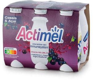 Jogurtov napitek Actimel, acai, črni ribez, 6x100g