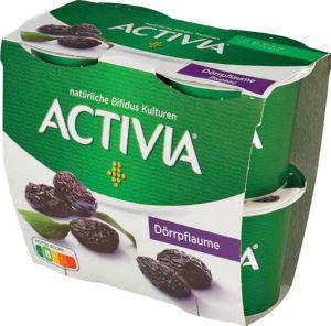 Jogurt Activia suhe slive, 4x115g