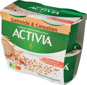 Jogurt Activia večzrnati, kvinoja in sonč., 4x115g