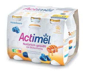 Actimel sladkan s cvetličnim medom okus borovnica, 600 g