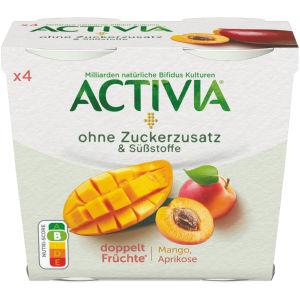 Activia brez dodanega sladkorja okus mango, marelica, 4 x 115 g