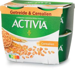 Jogurt Activia navadni z žitaricami, 4x115g