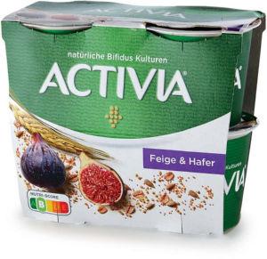 Jogurt Activia večzrnati, figa&marant&sonč., 4x115g