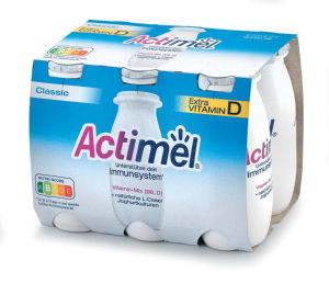 Jogurtov napitek Actimel, naravni, 6 x 100 g