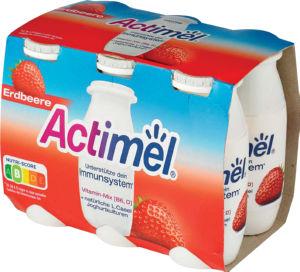Jogurtov napitek Actimel, jagoda, 6 x 100 g