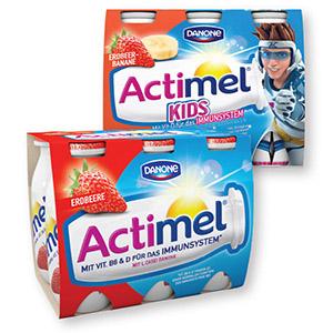 Actimel, več okusov, Danone, 6 x 100 g
