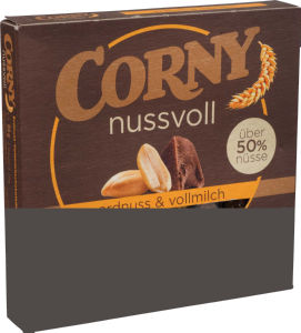 Ploščica Corny z arašidi in čokolada, 96g