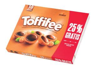 Bonbonjera Toffifee, 25% gratis, 250g