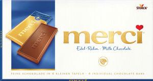 Čokolada mlečna Merci, edel-rahm, 100g