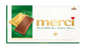 Čokolada Merci, mandel-milch, 100g