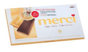 Čokolada Merci, kaffee-sahne, 100g