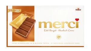 Čokolada Merci, nougat, 112g