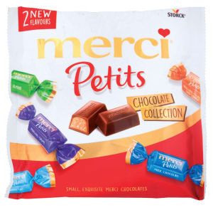 Bonboni Merci petits, chocolate collections, 125g