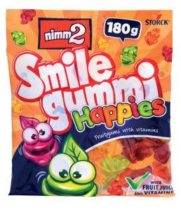 Bonboni Nimm2, smilegummi happies, 180g