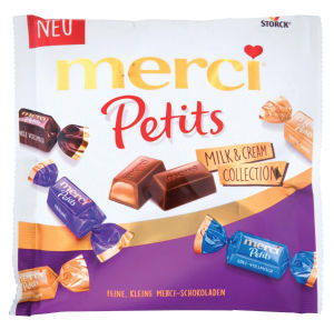 Bonboni Merci petits, milk&cream collection, 125g