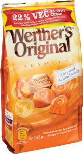 Praline Werther's original, caramel, 153g