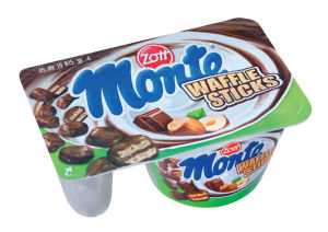 Desert Monte, Choko flakesin waffel, 125g