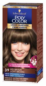 Barva za lase Poly Color, 39, svetlo rjava