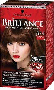 Barva za lase Brillance, 874, žametno rjava