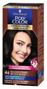 Barva za lase Poly Color, 46, rjavo črna
