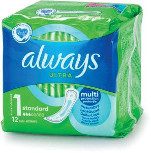 Higienski vložki Always, ultra, normal, 12/1