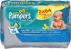 Robčki Pampers, Baby,fresh, 2×64