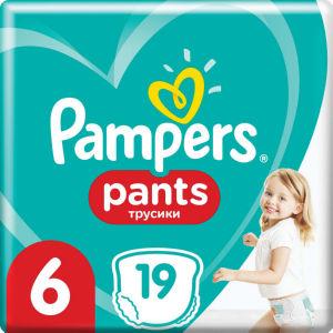 Pampers hlačne plenice Active baby, S6, 19/1