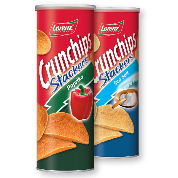 Čips Crunchips, stackers, paprika, 175g