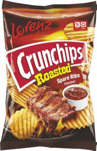 Čips Crunchips, Roasted, reberca, 140g