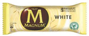 Sladoled Magnum, belo čokolado, 120 ml