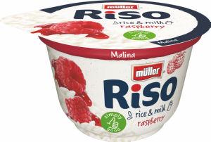 Mlečni riž Riso, Muller, malina, 200g