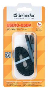 Kabel USB microusb+lightning 1m črn