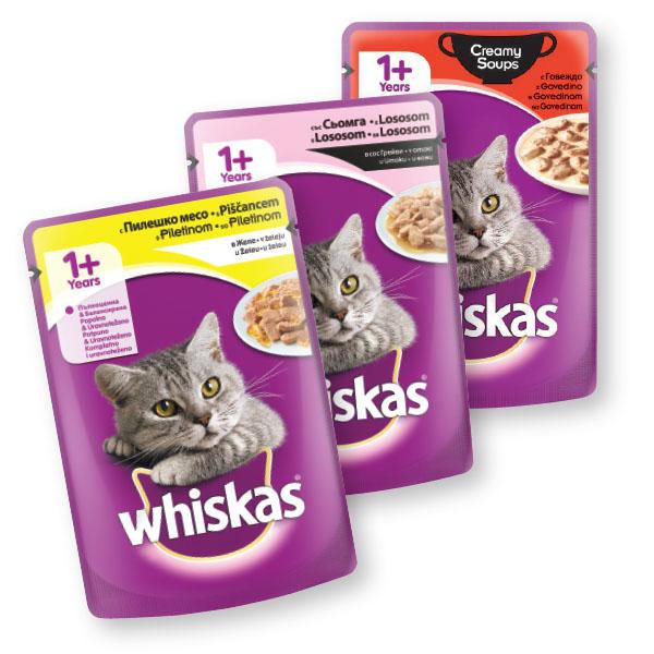 Hrana za mačke Whiskas, več vrst