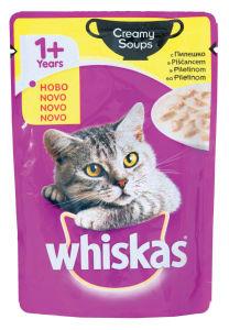 Hrana za mačke Whiskas, creamy, piščanec, 85g