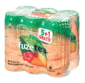 Ledeni čaj Fzzetea, breskev 5+1, 6×0,33l