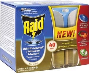 Insekticid Raid, siver adv., el.apar., 40 noči
