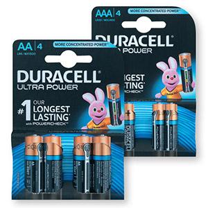 Baterijski vložki Duracell Ultra Power, AA ali AAA