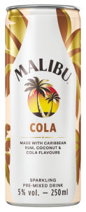 Malibu, cola, alk.5 vol%, 0,25l