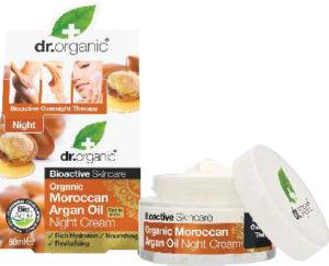 Krema Dr.Organic z arganom, nočna, 50ml