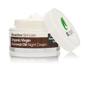 Krema Dr.Organic s kokosovim oljem, nočna, 50ml