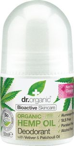 Dezodorant Roll-on Dr.Organic s konopljinim oljem, 50ml