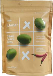 Olive Iliada, zelene pekoče, prigrizek, 120 g