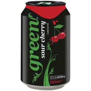 Pijača Green Sour Cherry, 0,33 l