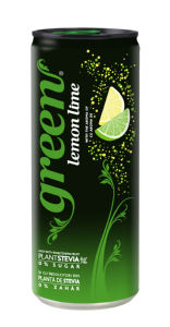Pijača Green lemon lime, s sladili, 0,33 l