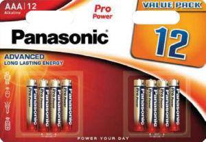 Baterijski vložki Panasonic, Pro Power AAA, 12/1